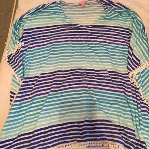 Lilly knit striped coverup